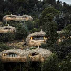 Luxury safari accommodation in Volcanoes national park Rwanda