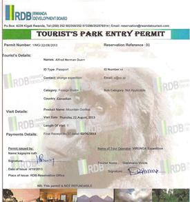 Rwanda Gorilla Trekking Permit Information-Rwanda Safari News